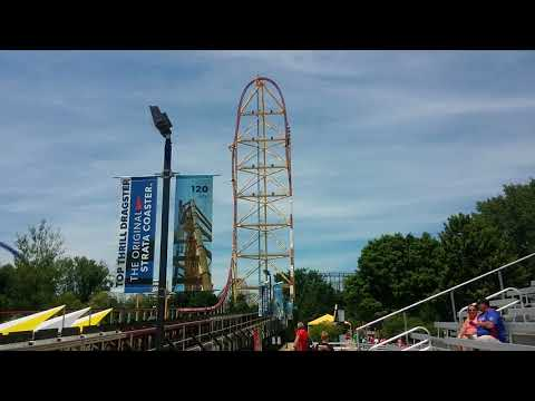Top Thrill Dragster - Strata Coaster at Cedar Point. 0-120 mph in 4 sec!