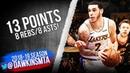 Lonzo Ball Full Highlights 2019.01.13 Cavs vs Lakers - 13 Pts, 8 Rebs, 8 Asts! | FreeDawkins