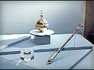 Сегодня в Москве в музее имени Пушкина открылась уникальная выставка «Золотая казна России». - Первый канал