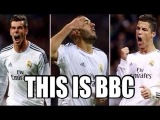 BBC ● Bale ● Benzema ● Cristiano ronaldo  ● Real Madrid golden team work ever ● 2014 (HD)