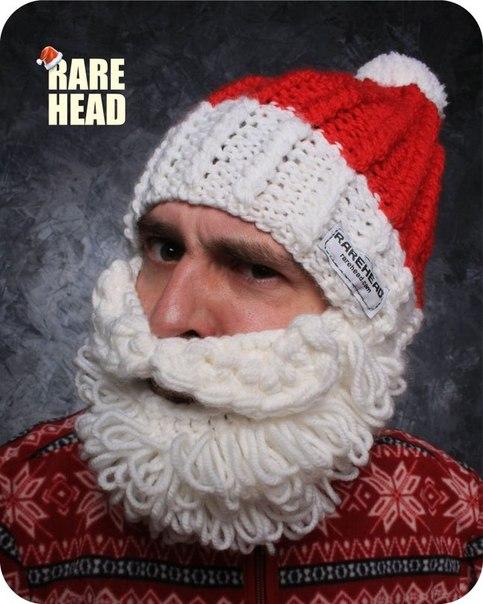 Как связать шапки с бородой крючком