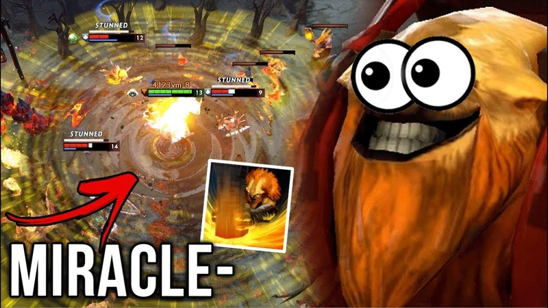 Miracle- Earthshaker Back to Meta at Mid EPIC Echo Slam VS w33 Ember Spirit - Dota 2