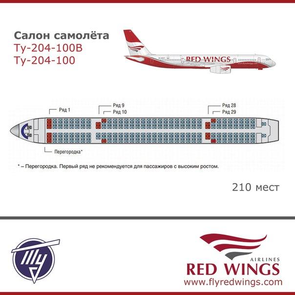 Схема салона самолета.