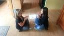 Kaya and Haley doing peas porridge hot REALLY FAST