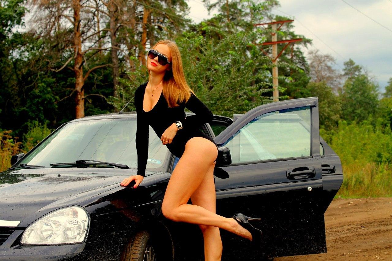 Секси девка около русского авто прома фото 6 фотография