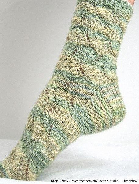 шедевральные ажурные носки