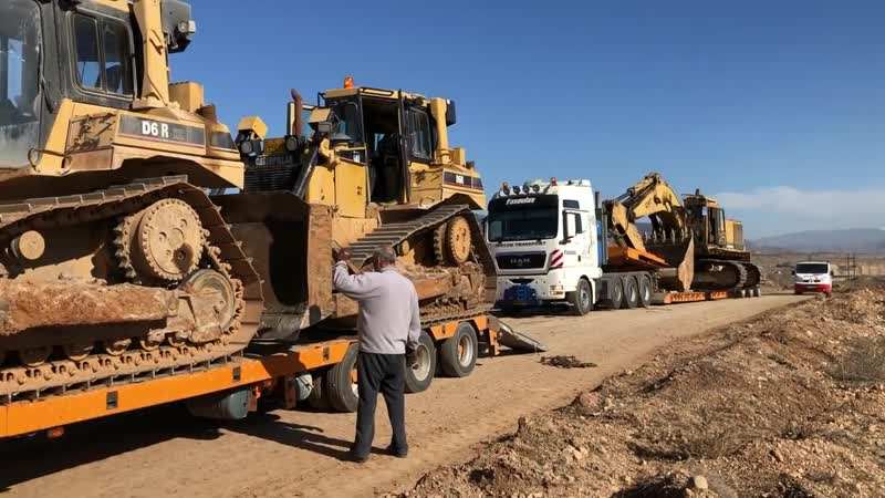 Transporting Cat Excavators 365C 245 And Cat Dozers D6R Fasoulas Heavy Transports