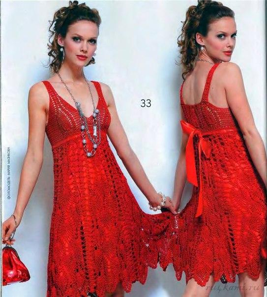 Летнее платье крючком вяжем своими руками, схема по ссылке: http://ru4kami.ru/vy...