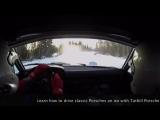 Porsche 914-6 rally car on WRC test stage