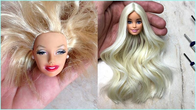 Transformación de Barbie 😍 HERMOSOS PEINADOS PARA BARBIES 46