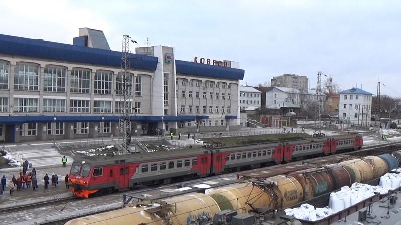 Пригородный ЭД9М-0265 Гороховец-Владимир. Станция Ковров