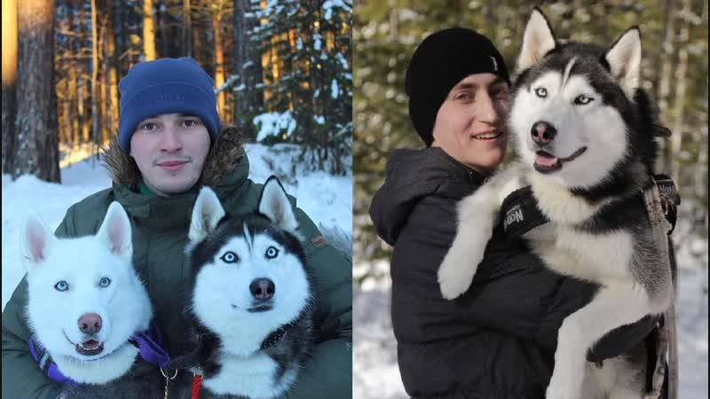 Организаторы клуба северных ездовых собак «Хаски 186» Владимир Булгаков и Денис Мельников
