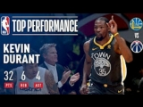 Kevin Durant Drops a Game-High 32 Pts vs His Hometown Wizards
