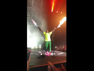 A$ap rocky выступил с огнемётами в швеции