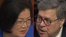 William Barr Flusters Hirono After Telling Her He Won't Recuse Himself From Mueller Investigation