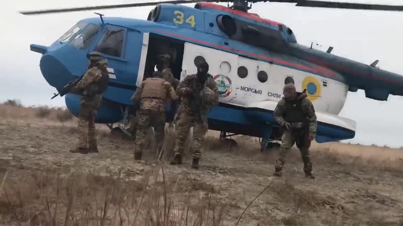 Спільні дії підрозділів морської піхоти, морської авіації та оперативного резерву першої черги
