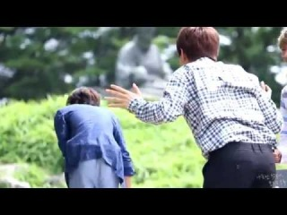 [FANCAM]140720 B1A4 Sandeul and Gongchan at SOLODAY Inkigayo fanmeeting