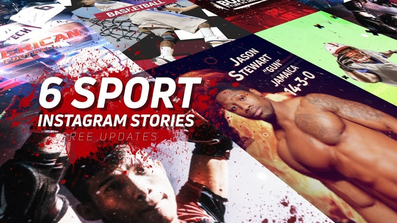 Sport Instagram Stories Pack After Effects Template