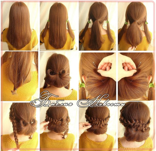 Косички на длинные волосы для девочек схемы.