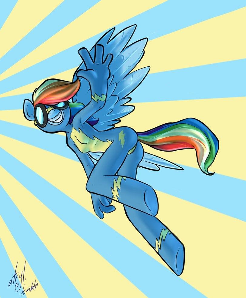 Радуга Дэш Гуляет по Облакам (Rainbow Dash Gems)