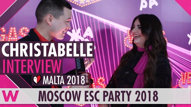 Christabelle (Malta 2018) Interview | Moscow Eurovision Party 2018