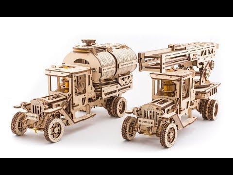 3D-пазлы Ugears Механизированные деревянные игрушки