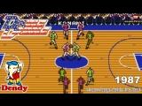 Баскетбол Dendy Double Dribble Денди игра Двойной дриблинг Double Dribble NES Walkthrough Игра 1990