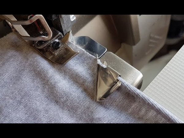 How to sew rolled edge of material - makes sewing easier .Gadzet do rozwijania brzegu materiału