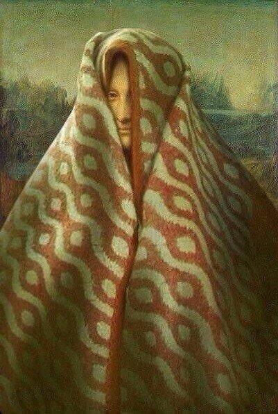 Картинки по запросу мона лиза в одеяле