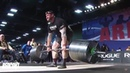 Михаил Шивляков на Арнольд Классик, тяга штанги 426 килограмм с кровотечением из носа