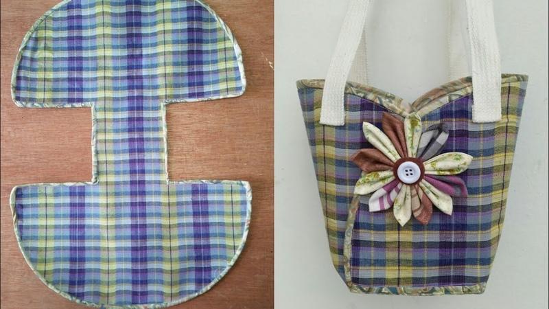 DIY cute bags tutorial from scratch คลิปสั้น รัชนี งานผ้า handmade