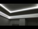 Подвесной потолок из гипсокартона с тремя контурами подсветки