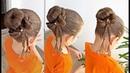 Penteado Infantil com coque e laço de cabelo