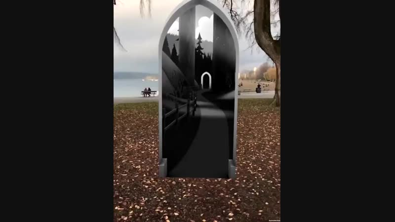 Alternate Reality demo showing a portal into another world