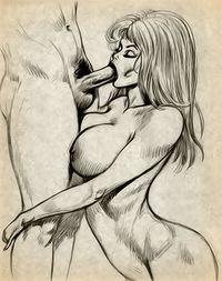 Порно и эротические рисунки, стариков публике застукал