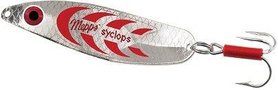 Блесна Mepps SYCLOPS SILVER/RED № 00 /колеблющаяся, серебро, красные полоски/ 5 гр. Одни из самых известных и уловистых блесен: http:westfishing.ru