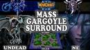 Grubby   Warcraft 3 TFT   1.30   UD v NE on Echo Isles - Mass Gargoyle Surround