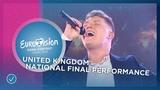 Michael Rice - Bigger Than Us - United Kingdom - National Final Performance - Eurovision 2019