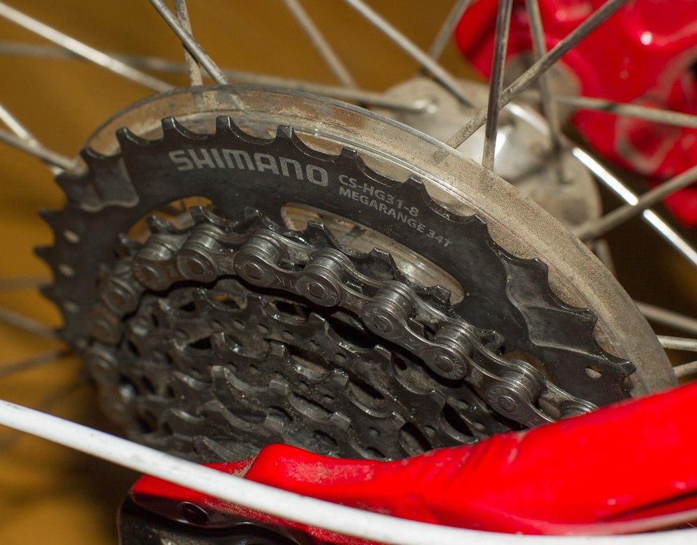 Мойка велосипедной цепи