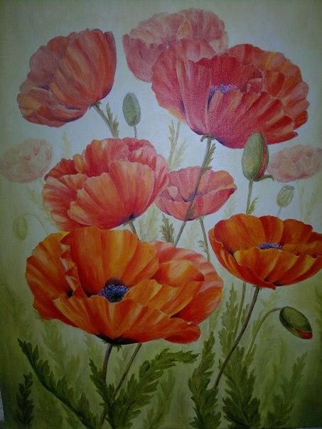 как рисовать гуашью цветы поэтапно для начинающих видео