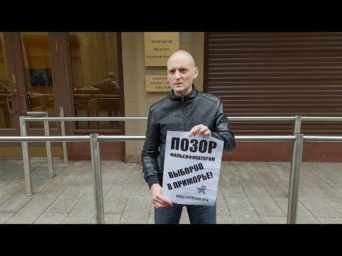 Пикеты в связи с выбрами в Приморье. Москва. LIVE