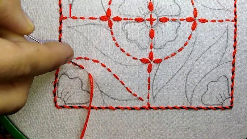 Nakshi kantha design stitch-47, how to stitch nakshi kantha,নকশী কাঁথা সেলাই, नक्षी कंध सिलाई