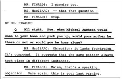 Показания Йоши Уейли, сына Джоли Левин (секретарь MJ)., изображение №34