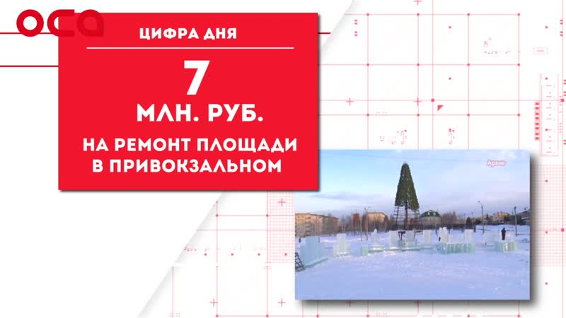 ЦИФРА ДНЯ почти 7 млн. на ремонт площади на Привокзальном