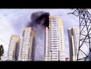 Пожар в многоквартирном доме в Красноярске