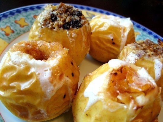4 рецепта печеных яблок 1. Печеное яблоко с