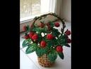 Земляника из бисера. Strawberries from beads