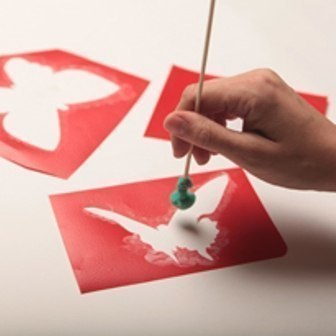 Бабочки своими руками рисуем на стене (c) Дизайнер: Ирина Иванова - fly like the butterfly