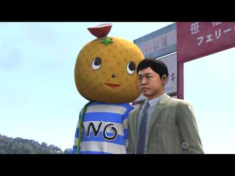 Yakuza 6 The Song of Life - Kiryu Dressed As Ono Michio Mascot Entertains Kids