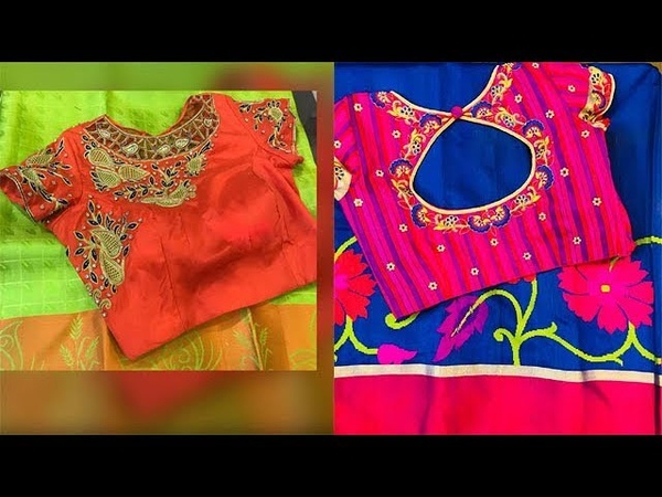 Latest Saree Matching Blouse Work Designs